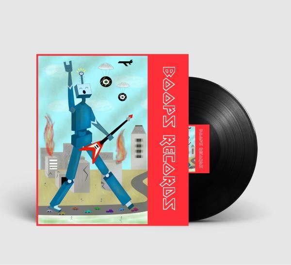 Boops Records Mockup