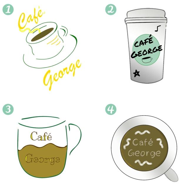 Cafe George Logo Designs